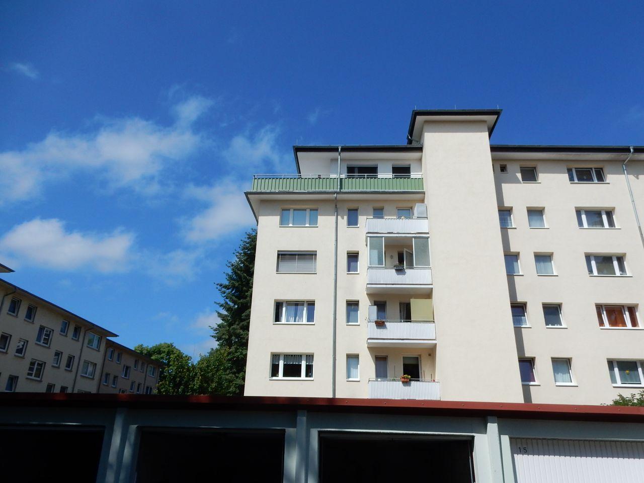 Blick zur Wohnung